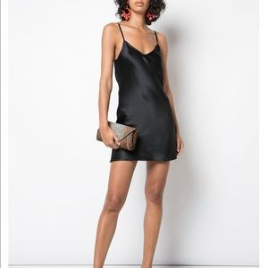 Reformation 100% silk slip dress. Black. XS.